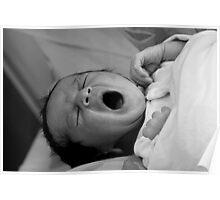 New born baby - sleepy Poster