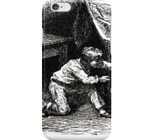 Achille Sirouy Mark Twain Les Aventures de Huck Huckleberry Finn illustration p039 iPhone Case/Skin
