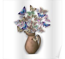 Butterfly Jug Poster