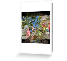 Leafs Manipulation Greeting Card