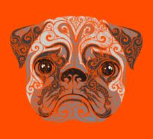 Swirly Pug Kids Tee