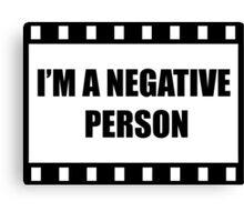 Negative Person Canvas Print