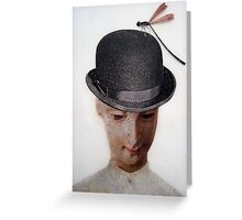 Bowler Hat & Damsel Fly Greeting Card