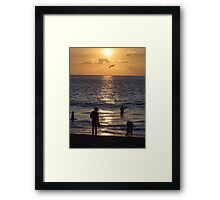 The end of a successful day Framed Print