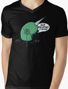 Evil Narwhal Favors Global Warming Mens V-Neck T-Shirt
