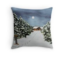 Winter Awe Throw Pillow