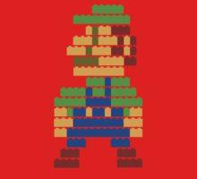 8-bit brick Luigi Kids Tee