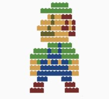 8-bit brick Luigi Kids Clothes