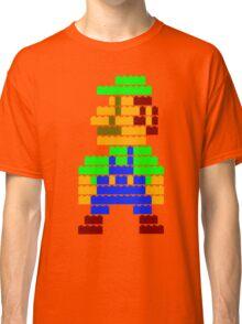 8-bit brick Luigi Classic T-Shirt