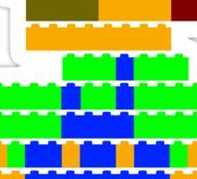 8-bit brick Luigi Sticker