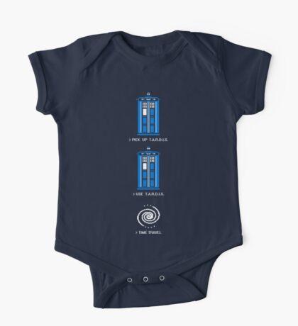 8-Bit Tardis - Doctor Who Shirt One Piece - Short Sleeve