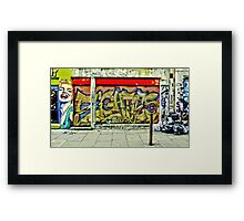 Street art on Brick Lane Framed Print