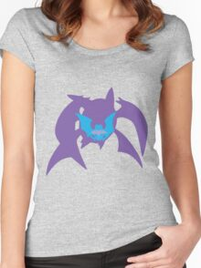 PKMN Silhouette - Zubat family Women's Fitted Scoop T-Shirt