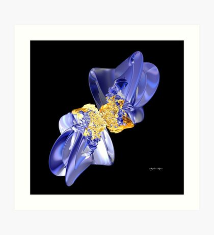 Blue Bow Art Print