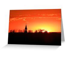 Late September Sunset Greeting Card