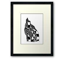 Woodblock Abstract Framed Print