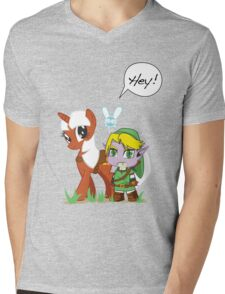 The Legend of Zeldestia Mens V-Neck T-Shirt