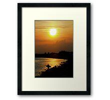 Evening Beach Sun Framed Print