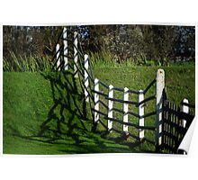 Frantic fence Poster