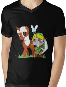 The Legend of Zeldestia (no text version) Mens V-Neck T-Shirt