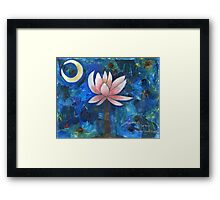 No Mud, No Lotus Framed Print