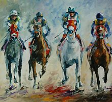 HORSE RACING - LEONID AFREMOV by Leonid  Afremov
