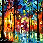 LIGHTS AND SHADOWS - LEONID AFREMOV by Leonid  Afremov
