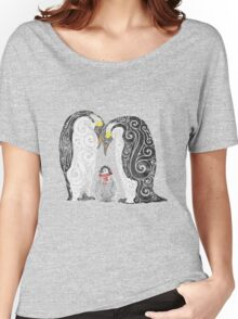 Swirly Penguin Family Women's Relaxed Fit T-Shirt