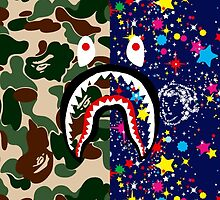 A Bathing Ape x Shark x Billionaire Boys Club by ONLYFLY