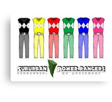 Suburban Power Rangers Canvas Print