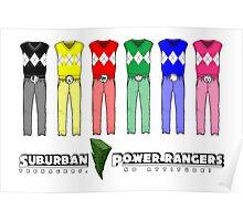 Suburban Power Rangers Poster