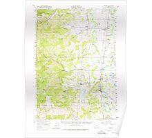 USGS Topo Map Oregon Monroe 282727 1957 62500 Poster