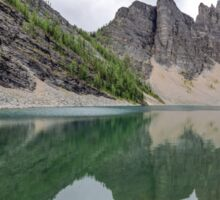 Lake Agnes, at Lake Louise, in the Canadian Rockies Sticker