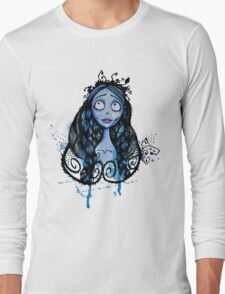 Watercolor Corpse Bride Long Sleeve T-Shirt