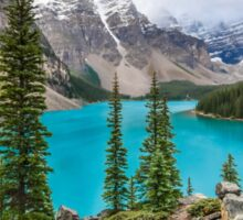 Moraine Lake in the Canadian Rockies Sticker