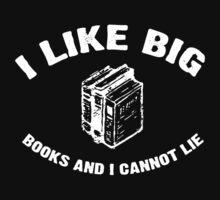 I Like Big Books - Baby Got Books - Vintage Kids Tee
