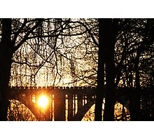 Bridge and Sunrise - Snoghøj, Denmark Photographic Print