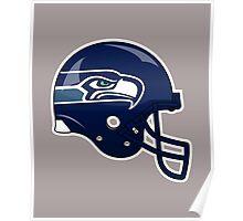 Seahawks helmet Poster