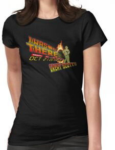 Back to the future day - Great scott!! Womens Fitted T-Shirt