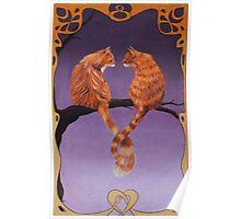 Nouveau Cats Poster