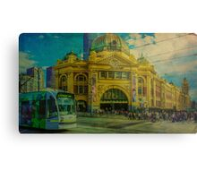 The Cyclist, Toorak Tram and Something Different Metal Print
