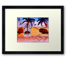 The Old tan Wall # 2, series, watercolor Framed Print