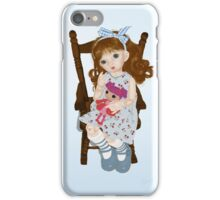 Doll on chair iPhone Case/Skin