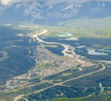 View of Jasper National Park in the Canadian Rockies Sticker