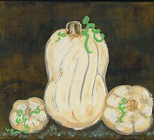 White Pumpkins I by Tara  Henry