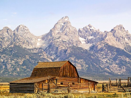 Mormon Row Barn, Grand Tetons, Wyoming, USA by Kenneth Keifer