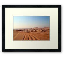 Desert Tracks Framed Print
