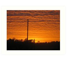 sunrise over the valley - Kennedy, North Queensland, Australia Art Print