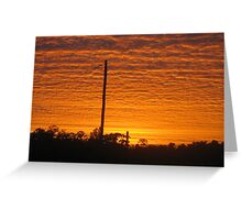 sunrise over the valley - Kennedy, North Queensland, Australia Greeting Card