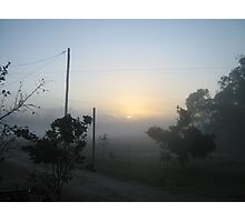 one misty morning just as the sun rose - Kennedy, North Queensland, Australia Photographic Print
